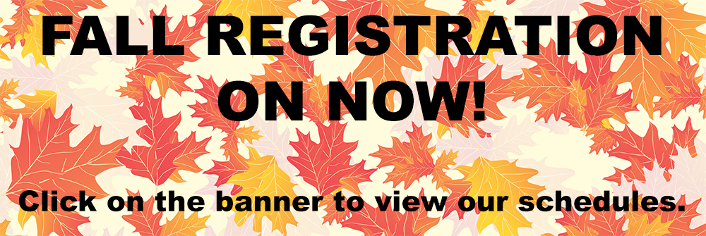 fall registration for website