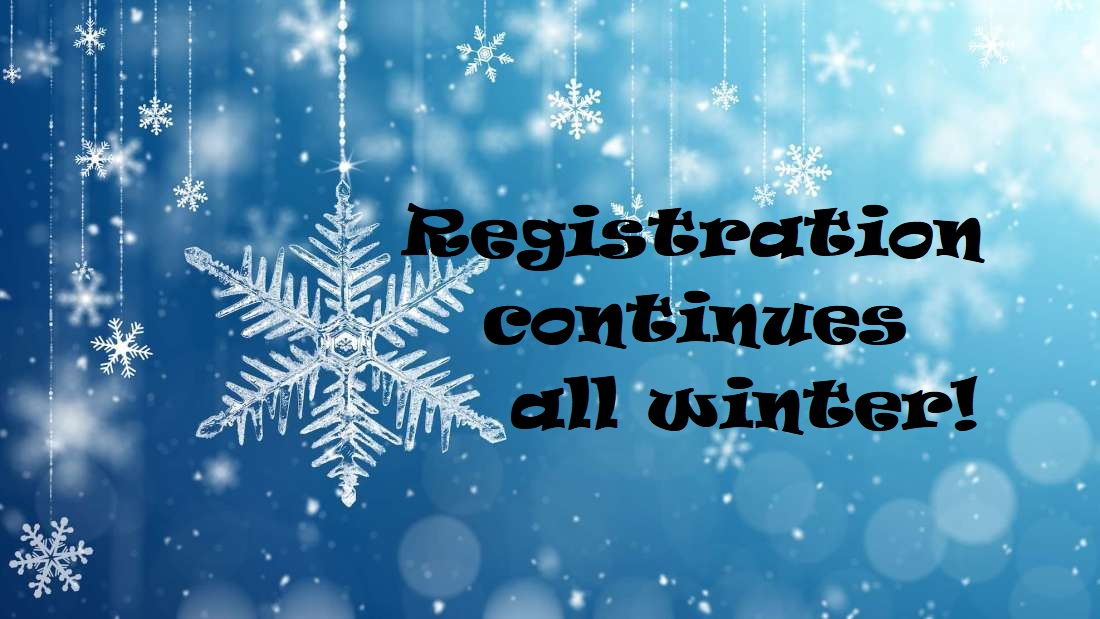 Winter registration – take 3
